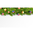 christmas partiotic border of vector image vector image