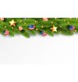christmas partiotic border vector image vector image