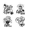 coffee black phrases with cup vector image