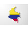 colombia map with shadow effect vector image vector image