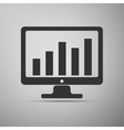 Display with business graph icon vector image