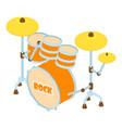 drum icon isometric style vector image