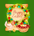 easter spring holiday greeting card design vector image vector image