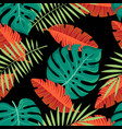 exotic jungle tropical pattern vector image vector image