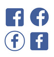 facebook logo facebook icon vector image