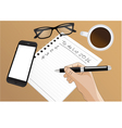 filling out a to do list vector image vector image