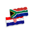 flags croatia and republic south africa on a vector image