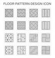 floor pattern icon vector image vector image
