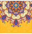floral yellow pattern in ukrainian oriental ethnic vector image
