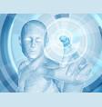 future technology 3d app concept vector image