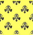gas mask seamless pattern respirator icon texture vector image