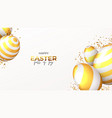 happy easter holiday banner vector image