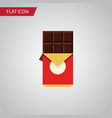 isolated shaped box flat icon chocolate bar vector image