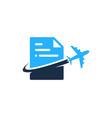journey document logo icon design vector image