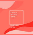 living coral color of the year vector image vector image