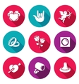 love and romance icons set vector image vector image