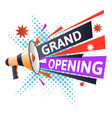 marketing business grand opening isolated icon vector image vector image
