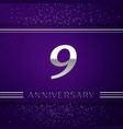 nine years anniversary celebration design vector image vector image