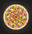 pizza on the board vector image vector image