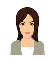 pretty asian woman face in vector image