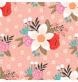 reamless floral pattern vector image vector image