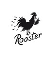 rooster logo cock image with text isolated on vector image