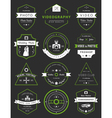 set badges photography and videography vector image