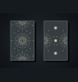 set magical tarot cards magic sacred geometry vector image vector image