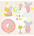 Set of Baby Mouse - for Baby Shower Card vector image vector image