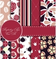 Set of Beautiful Paper for Scrapbook vector image vector image