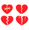set of icons broken heart vector image