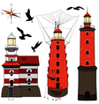 Set of lighthouses vector image vector image
