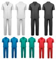 Sets of medicaldoctor clothes vector image vector image