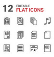 sheet icons vector image vector image