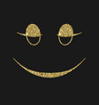 smiling icon with glitter effect isolated on vector image vector image