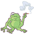 Smoking Frog vector image