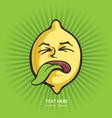 sour lemon - cartoon character vector image