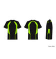 sport shirt front back side view isolated on vector image vector image