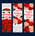 springtime or mother day floral banners vector image vector image