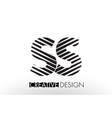 ss s s lines letter design with creative elegant vector image vector image