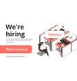 staffing recruitment agency banner vector image vector image