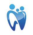 tooth for family dental care icon symbol vector image