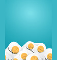 vertical banner with 3d eggs cut out from paper vector image vector image