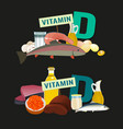 vitamin d image vector image vector image