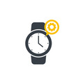 watch repairs logo vector image