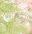 Waves hand-drawn pattern abstract background curl vector image vector image