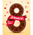 womens day 8 march poster vector image vector image