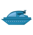 yacht luxury transport isolated icon vector image