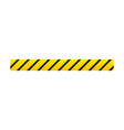 yellow with black police line or danger tape vector image vector image