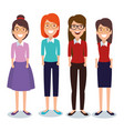 young women avatars characters vector image vector image